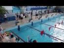 20.04.18 Ярославль 100 м девочки 2007-2008 гр (плаваниеи в ластах)