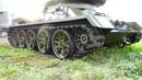Большой радиоуправляемый танк Т34-85 масштаб 1:2.2