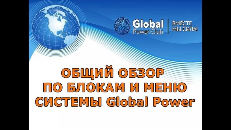Global Power - Общий обзор по блокам и меню системы автоматизации бизнеса