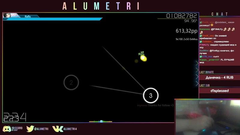 Osu! | Alumetri | Ayase Rie feat. Hata-tan - Yuima-ru*World TVver [Extra] HDHRDT 94.91% FC 704pp 4