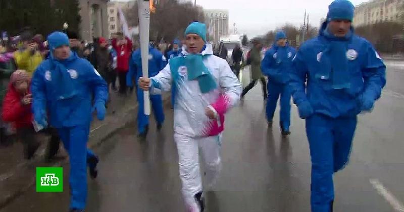 Екатеринбург принял эстафету огня Универсиады