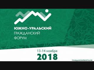 Южно-Уральский гражданский форум. Пленарное заседание