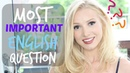 The 1 Most Important English Question for Learners of English! | Spon