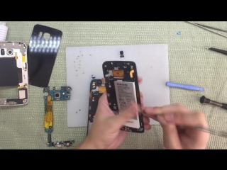 Samsung Galaxy S6 Edge SM-G925F замена дисплея и сенсора