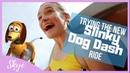 Trying NEW Slinky Ride, Hollywood Studios Disneyland Florida | SKYE