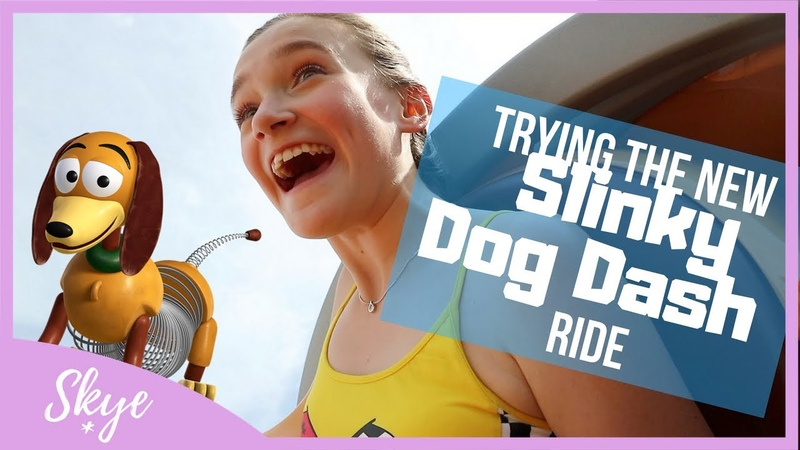 Trying NEW Slinky Ride, Hollywood Studios Disneyland Florida | SKYE