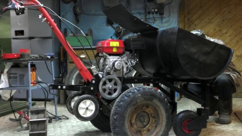 Мотокультиватор Крот-2. Модернизация и преоброазование в мототачку.