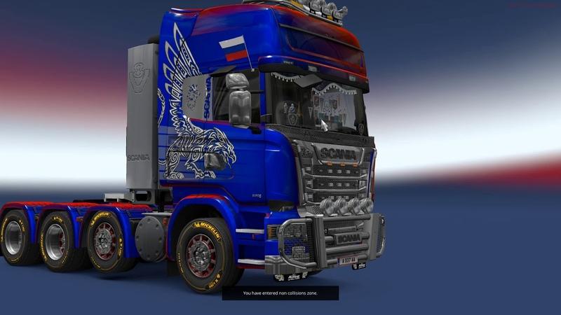 Euro Truck Simulator 2: Scania R620 с реальной кпп и двигателем в мультиплеере, обзор и тест-драйв.
