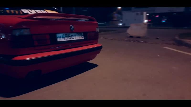 Stance BMW E34 on air . БМВ Е34 на пневме