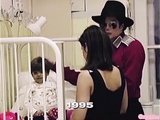Michael Jackson and Lisa Marie Presley at a children's hospital