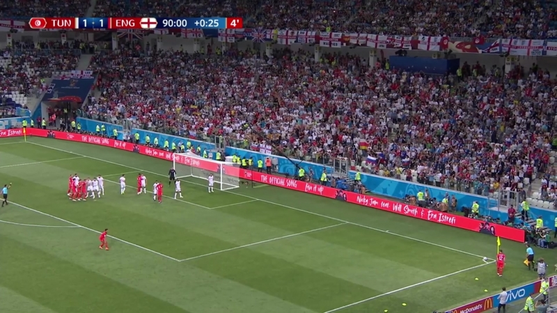 Tunez 1–2 Inglaterra Resumen del partido - FIFA World Cup 2018 (Grupo G)