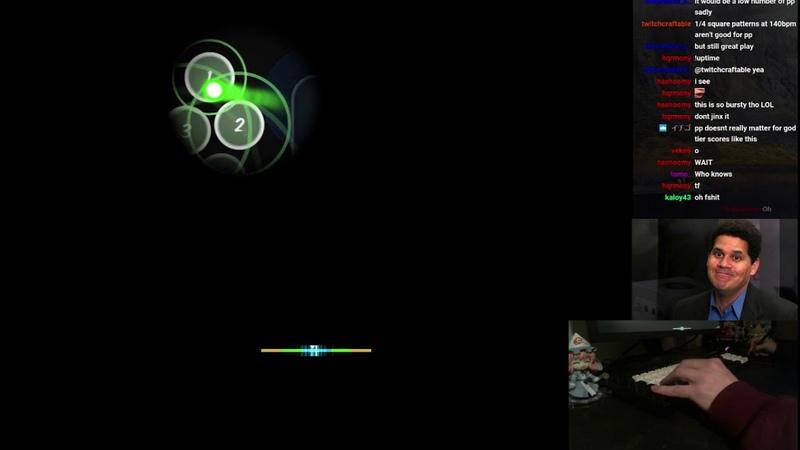 Osu! liveplay - Kitsune^2 - Rainbow Tylenol [Hell] FL 1 - 1 miss, 819823x