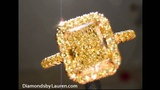 1.51ct Fancy Light Yellow in all yellow Micro Pave Ring r5408