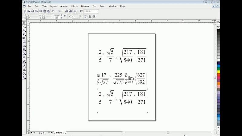 Type Math Equations in CorelDraw