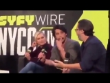 the asked which death was the hardest and eliza interrupted jason to mention Lexa - WATCH JASONS FACE SJSJSJ
