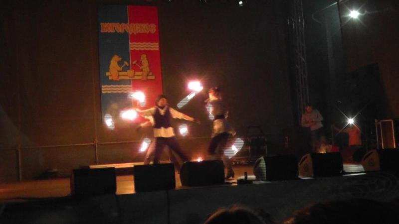 Фаер шоу на день поселка Богородское 25 08 18