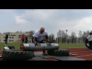 Видас Блекайтис Литва бревно 180 кг 💪 показательное выступление в Бирштонасе 💪