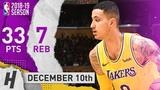 Kyle Kuzma NASTY Highlights Lakers vs Heat 2018.12.10 - 33 Points, 7 Reb