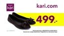 Любишь подарки kari ДАРИТ ОБУВЬ! Приходи и выбирай. Например, балетки женские от 499 рублей!