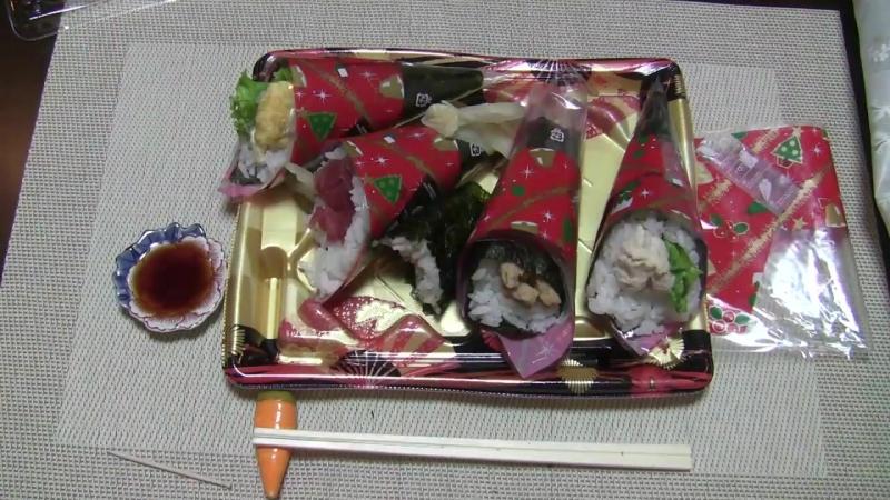 Новогодние суши конусы темаки ⌒ω⌒ Как едят суши в Японии