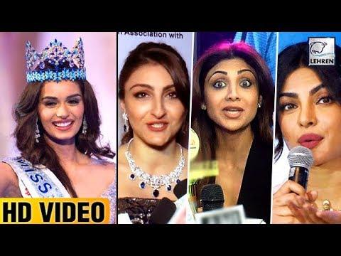 Bollywood Reacts On Manushi Chhillar WINNING Miss World 2017 | LehrenTV
