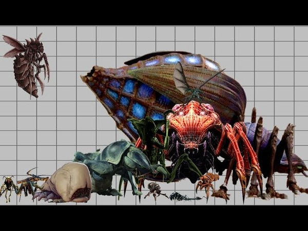 Starship troopers arachnids size comparison