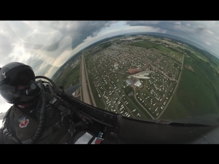 F-16 fighter jet - crazy unique cockpit video - airventure 2018