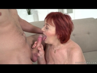 Marsha, Rob - Redheaded Granny Wants Some Cock [Fetish, Big Dick, Granny, Old-Young, One On One, Cumshot, Blowjob, All sex]