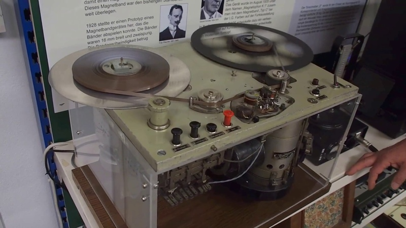 Restauriertes K2-Tonbandgerät in Aktion - das erste der Welt!