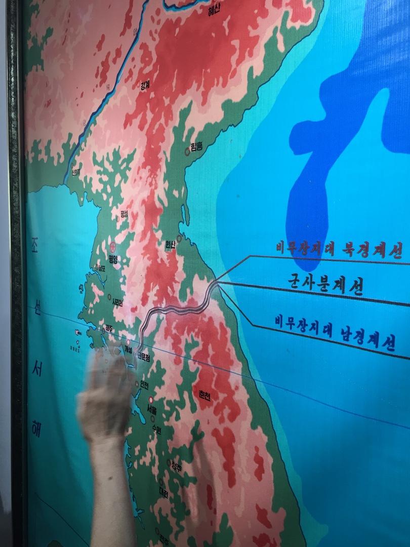 Отчет о путешествии в Северную Корею 2018. Карта Кореи