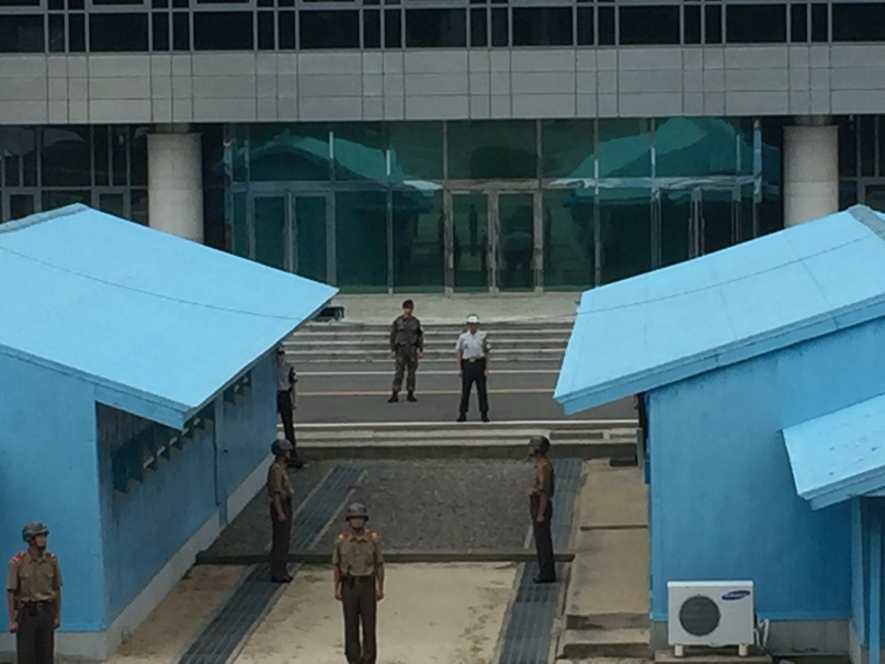 Отчет о путешествии в Северную Корею 2018. Граница между Севером и Югом