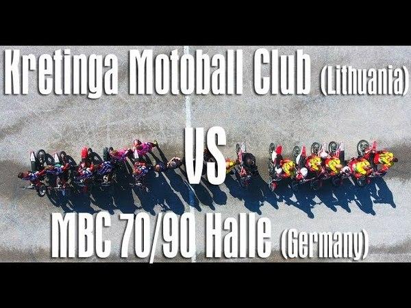 Motobolas Kretingos MC prieš MBC 70 90 Halle Vokietija 2018 05 19