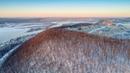 Зимний полет перед закатом над старицей реки Сок