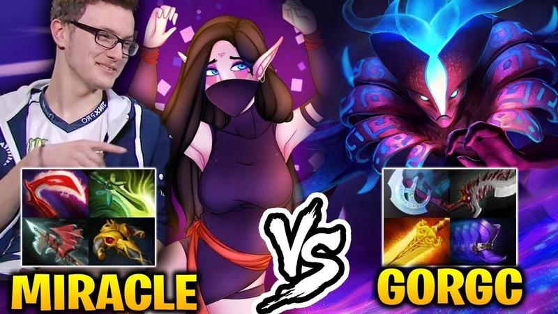 MIRACLE vs GORGC Top Last Hit vs Top Networth Dota 2