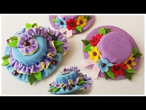 2 Ways to DIY Mini Hats - Hair Clips Craft Tutorial | Мини Шляпки - Заколки Для Волос - 2 Способа