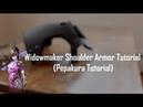 Overwatch Widowmaker Shoulder Armor Tutorial Cosplay Pepakura Tutorial
