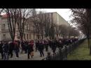 Днепропетровск. 1 марта, 2014. Русская Весна. Шествие к памятнику Ленина.