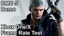 Devil May Cry 5 Xbox One vs Xbox One X Frame Rate Comparison Demo