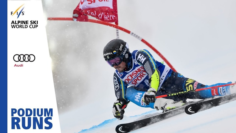 Matts Olsson Men's Giant Slalom Val d'Isère 3rd place FIS Alpine