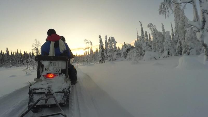 К Кивакке на снегоходах