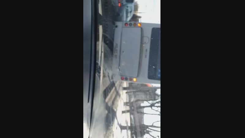 Кривые автобусы. Зато снег завозим пакетами
