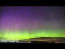 Мичиган....Стив и пикет-забор auroras..timelapse aurora к востоку от Levering, MI поздно вечером в пятницу 5/5/18.