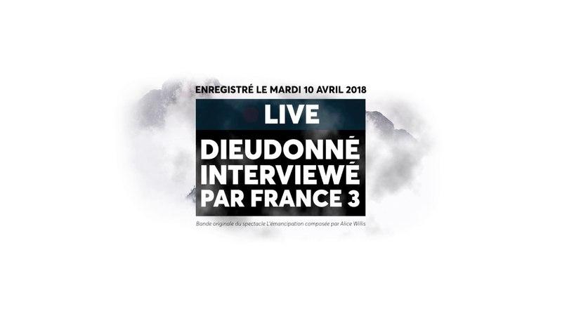 Dieudonné interviewé par France 3 Rhône-Alpes au sujet de sa venue à Saint-Étienne