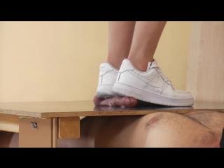 Nike airforse cock trampling / foot fetish