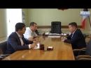 Встреча Александра Ессена с главным врачом Сарапульской городской больницы