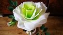 Вторая жизнь настольной лампы роза светильник из фоамирана. Часть 1