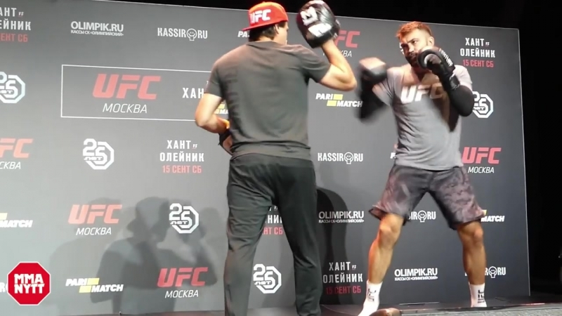 UFC MOSCOW ANDREI ARLOVSKI OPEN WORKOUT