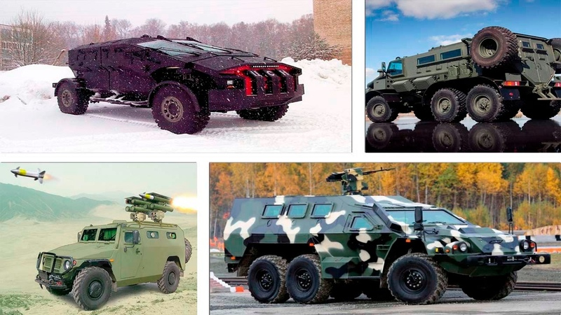 Russian armored military vehicles