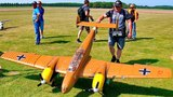 ME-110 MESSERSCHMITT BF-110 G4 GIANT RC SCALE MODEL AIRPLANE WARBIRD FLIGHT DEMONSTRATION