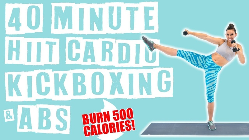 40 Minute HIIT Cardio Kickboxing and Abs Workout 🔥Burn 500 Calories! 🔥